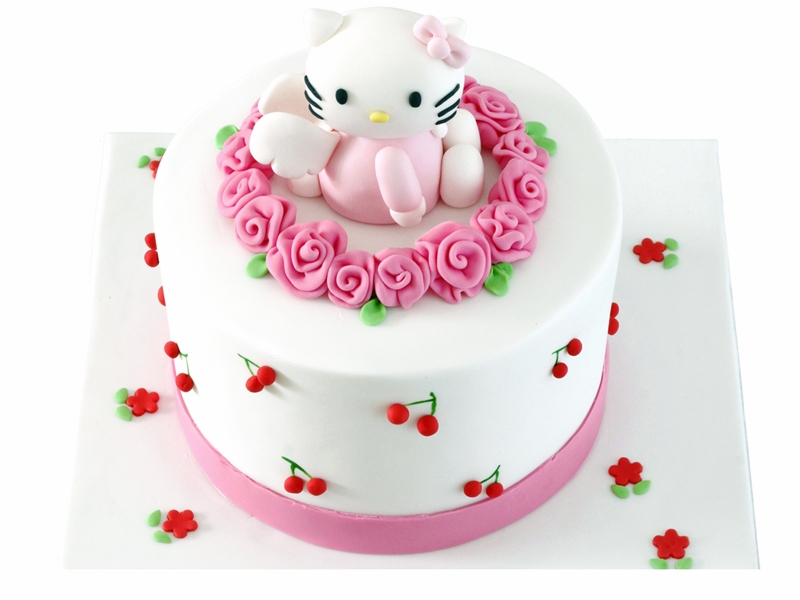 Торт с хелло китти без мастики